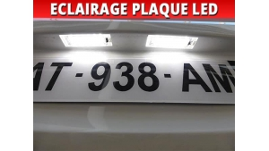 Pack led plaque Peugeot 607