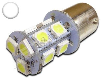 Ampoule Led P21W / BA15S - 13 leds smd 5050 - Blanc 6000K
