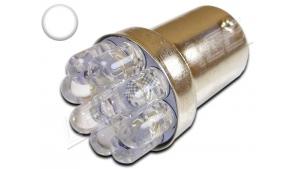 Ampoule Led P21W / BA15S - 9 leds Ø 5mm - Blanc 6000K