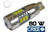 Ampoule Led T15 - W16W - 80 watts - leds cree - blanc 6000k