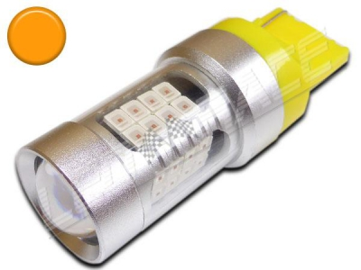 Ampoule T20 / W21W - 7440 - 43 leds smd - Orange
