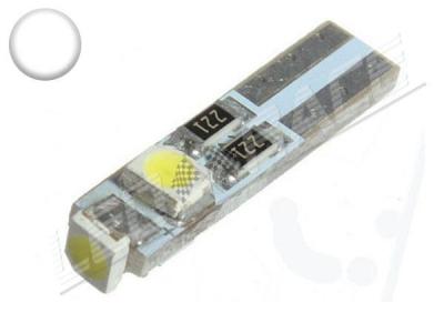 Ampoule Led T5 - 3 Leds smd 3528 - Blanc 6000K