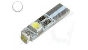 Ampoule Led T5 - 3 Leds smd 3528 - Blanc 6000K - W1.2W