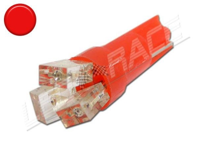 Ampoule Led T5 - 3 Leds - Rouge - W1.2W
