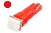 Ampoule led T5 - 1 Led smd 5050 - Rouge