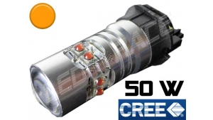 Ampoule PWY24W - 50 Watts - Leds CREE - Orange