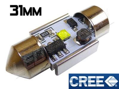 Navette Led 31mm - 5 Watts - CREE - radiateur - Blanc 6000K