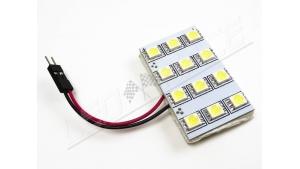 Plafonnier 12 leds smd 5050 - Format XL - avec adaptateurs - Blanc