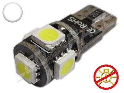 1 Ampoule bleue T10 W5W C10W 3 leds 5050 SMD anti-erreur ODB