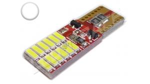 Ampoule Led T10 - culot W5W - 12 leds smd 4014 - Blanc 6000k