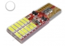Ampoule led Led T10 - culot W5W - 12 leds smd 4014 - Blanc 6000k