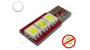 Ampoule Led T10 - culot W5W - 3 leds smd 5050 - SIDE 3 - sans erreur ODB - Blanc