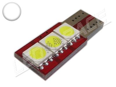 Ampoule Led T10 - culot W5W - 3 leds smd 5050 - SIDE 3 - Blanc 6000k