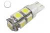 Ampoule Led T10 - culot W5W - 9 leds smd 5050 - Blanc 6000K