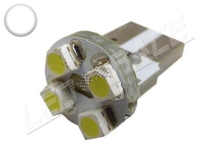 Ampoule Led T10 - culot W5W - 4 leds smd 3528 - Blanc 6000k