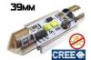 Navette Led 39mm -C7W-10 Watts - Leds CREE - radiateur - sans erreur ODB - Blanc 6000K