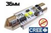 Navette Led 36mm -C5W- 10 Watts - Leds CREE - radiateur - sans erreur ODB - Blanc 6000K