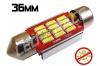 Navette Led 36mm -C5W- 12 Leds smd 4014 - radiateur - sans erreur ODB - Blanc 6000K