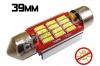 Navette Led 39mm -C7W- 12 Leds smd 4014 - radiateur - sans erreur ODB - Blanc 6000K