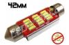Navette Led 42mm -C10W- 12 Leds smd 4014 - radiateur - sans erreur ODB - Blanc 6000K