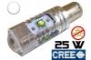 Ampoule Led T4W - culot BA9S - 25 Watts - Leds CREE - sans erreur ODB - Blanc