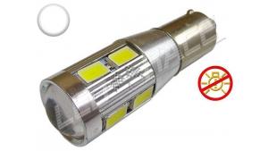 Ampoule Led T4W - culot BA9S - 10 leds smd 5630 - sans erreur ODB - Blanc 6000K