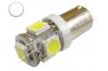 Ampoule Led H6W - culot BAX9S - 5 leds smd 5050 - Blanc 6000k