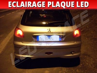 Pack led plaque Peugeot 206