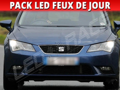 pack feux de jour led pour seat leon 3 me g n ration 5f. Black Bedroom Furniture Sets. Home Design Ideas