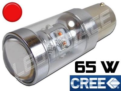 Ampoule Led P21W / BA15S - 65 Watts - Leds CREE - Rouge