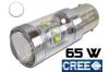 Ampoule Led P21/5W / BAY15D - 65 Watts - Leds CREE - Blanc 6000K