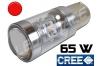 Ampoule Led P21/5W / BAY15D - 65 Watts - Leds CREE - Rouge
