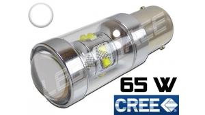 Ampoule Led P21W / BA15S - 65 Watts CREE - Blanc 6000K