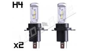 Pack 2 Mini Ampoules led phare Homologuées Haute puissance H4