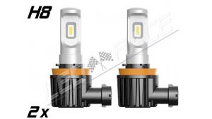 Pack 2 Mini Ampoules led H8 haute puissance Homologuées