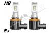 Pack 2 Mini Ampoules led H9 haute puissance homologuées Europe E13