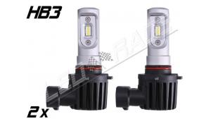 Pack 2 Mini Ampoules led HB3 9005 haute puissance Homologuées