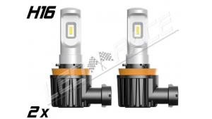 Pack 2 Mini Ampoules led H16 Haute puissance Homologuées E9