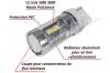 Ampoule Led T20 / W21/5W - 7443 - 39 leds smd 2835 - Blanc 6000K