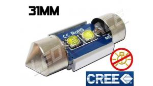 Navette Led 31mm C3W 10 Watts CREE radiateur sans erreur ODB Blanc 6000K
