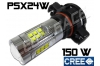 Antibrouillard led PSX24W - 150 Watts - CREE - Blanc 6000K