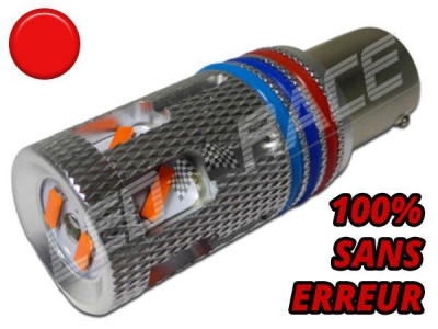 Ampoule Led P21/4W-BAZ15D - 32 Leds - Ultra Puissante - Rouge - CANBUS