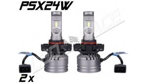 Pack 2 Mini Ampoules led PSX24W haute puissance Homologuées E9 - Ventilées