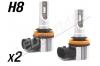 Pack 2 Mini Ampoules led phare haute puissance H8 Ventilées sans erreur ODB homologuee e9