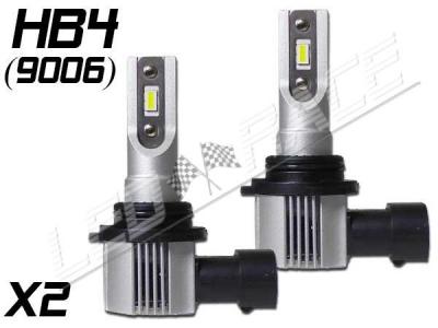 Pack 2 Mini Ampoules led phare haute puissance HB4 9006 Ventilées sans erreur ODB homologuee e9