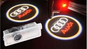 Modules led et logo porte